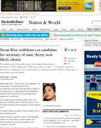 Susan Rice withdraws as candidate for secretary of: Seattle Times